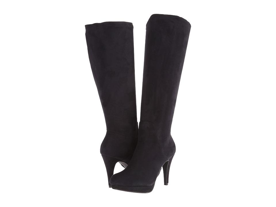 Adrienne Vittadini - Premiere (Black Microsuede Stretch) Women's Dress Zip Boots