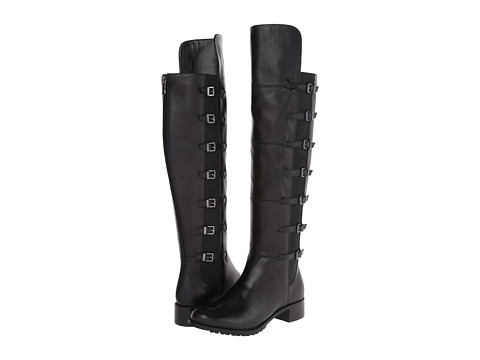 Adrienne Vittadini - Tiger (Black Soft Calf/Stretch) Women's Dress Boots