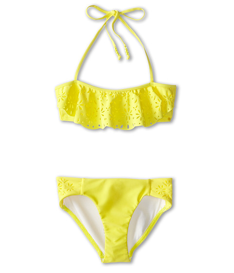 Seafolly Kids - Summer Camp Mini Tube Bikini (Little Kids/Big Kids) (Lemon Drop) Girl
