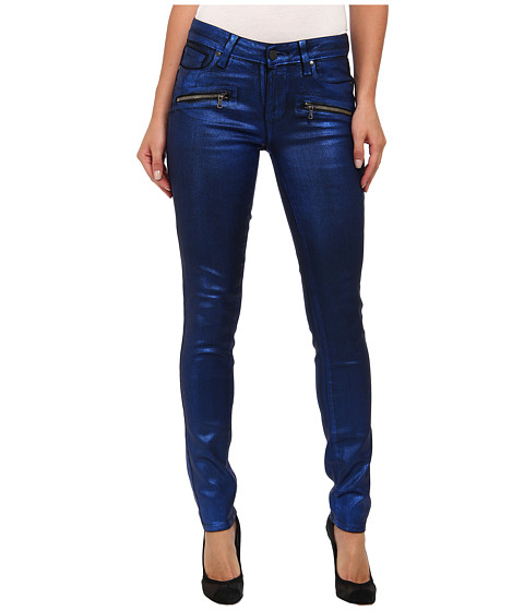 Paige - Indio Zip Ultra Skinny in Blue Galaxy Coating (Blue Galaxy Coating) Women's Jeans