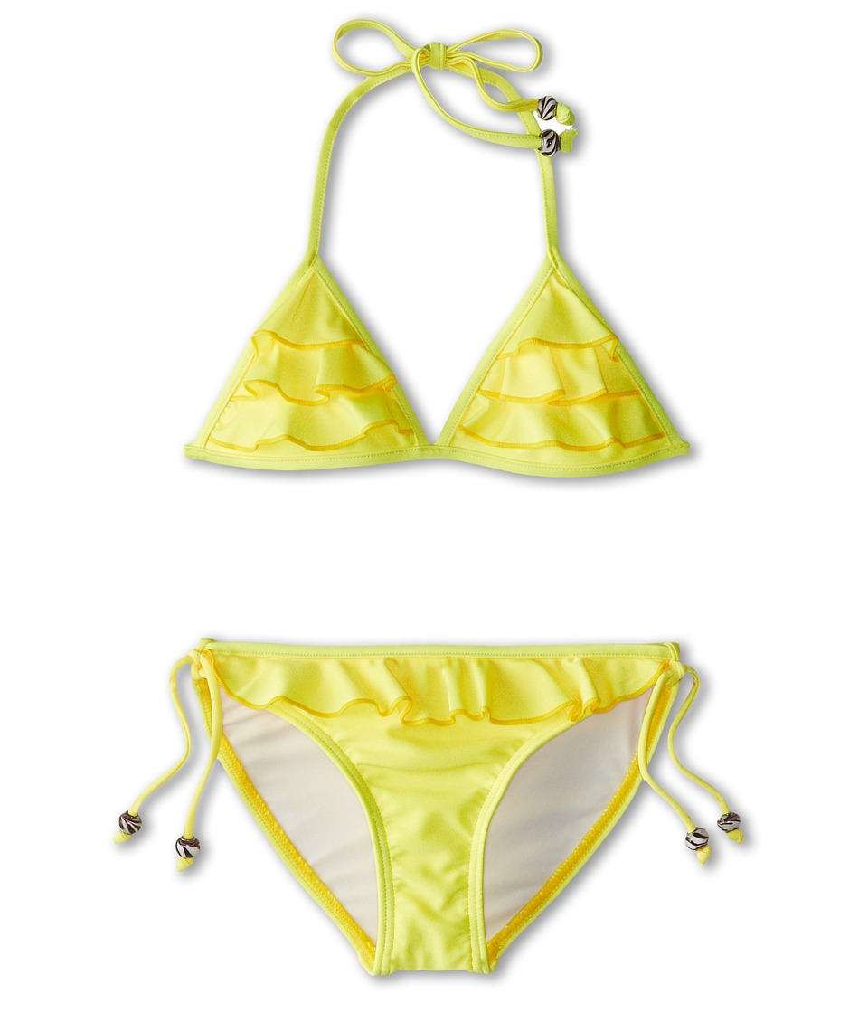 Seafolly Kids - Secret Valley Frill Tri Kini (Little Kids/Big Kids) (Lemon Drop) Girl's Swimwear Sets