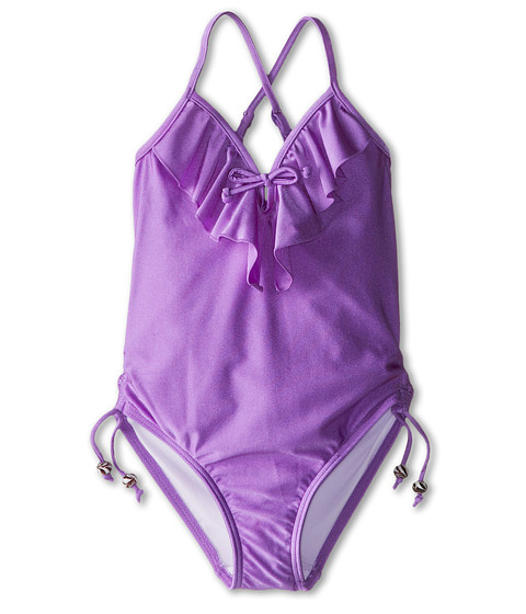 Seafolly Kids - Secret Valley Frill Tank (Little Kids/Big Kids) (African Violet) Girl's Swimsuits One Piece