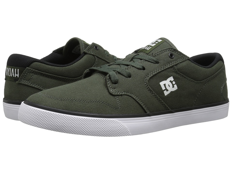 DC - Nyjah Vulc TX (Forest Green/White) Men's Skate Shoes