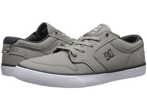 DC - Nyjah Vulc TX (Light Grey) Men's Skate Shoes
