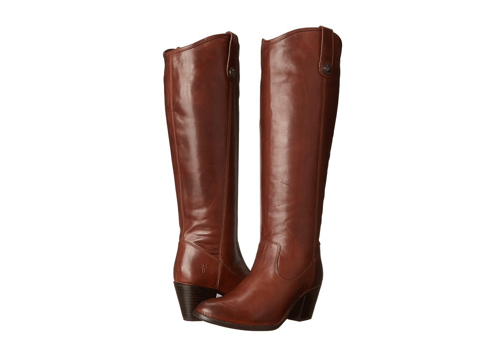Frye - Jackie Button Extended (Cognac Extended Smooth Vintage Leather) Women's Dress Pull-on Boots