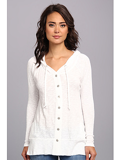 SALE! $39.99 - Save $30 on DKNY Jeans Drapey Button Down Hoodie (White) Apparel - 42.46% OFF $69.50