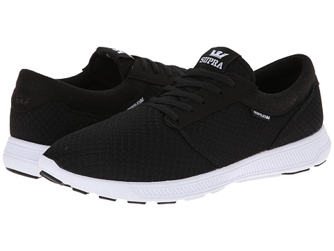 Supra - Hammer Run (Black/Black/White) Men's Skate Shoes