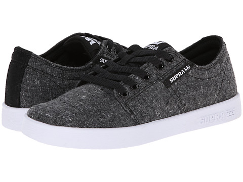 Supra - Stacks II (Charcoal Speckle/Black/White) Men