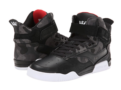 Supra - Bleeker (Black/Camo/White) Men's Skate Shoes
