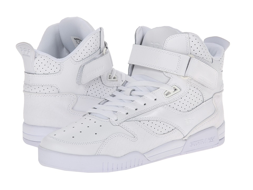 Supra - Bleeker (White/White) Men's Skate Shoes