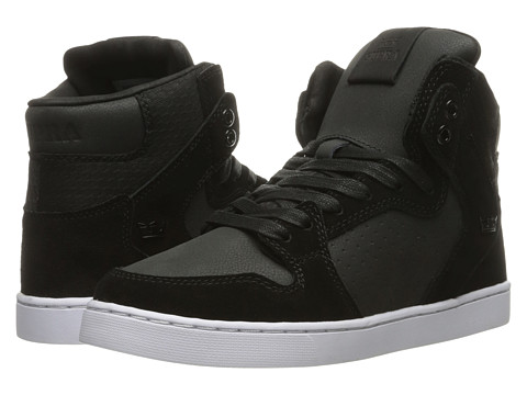 Supra - Vaider LX (Black/Black/White Multi Snake) Men's Skate Shoes