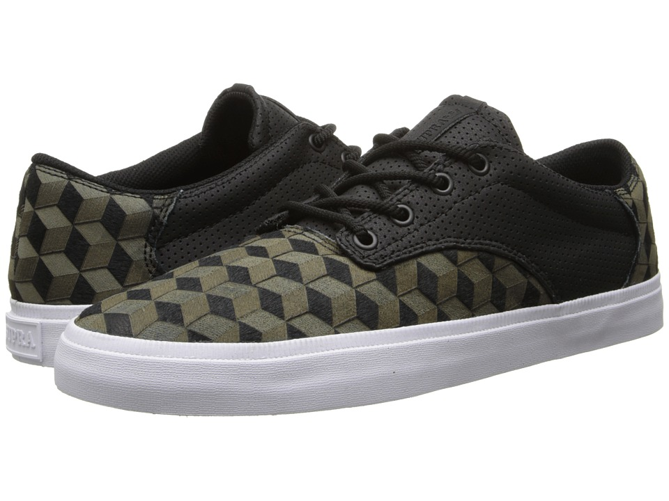 Supra - Pistol (Olive Drab/Black/White) Men's Skate Shoes
