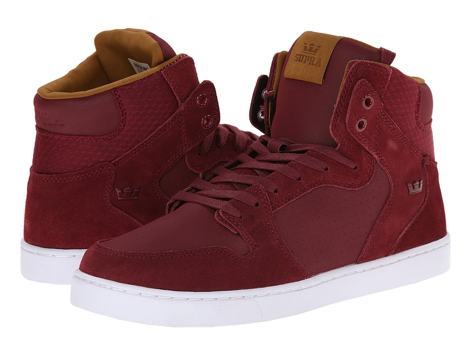 Supra - Vaider LX (Tawny Port/White) Men's Skate Shoes
