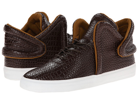Supra - Falcon (Brown Croc/White) Men's Skate Shoes