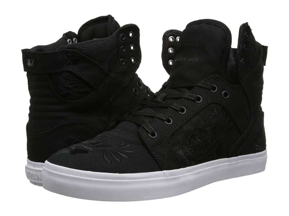 Supra - Skytop LS (Black/Rose/White) Men's Skate Shoes