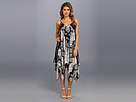 DKNY Jeans Tribal Tie Dye Hankerchief Dress