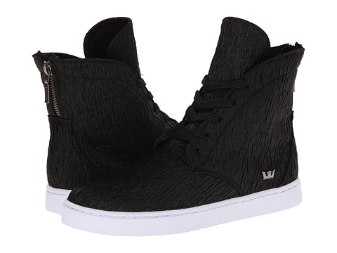 Supra - Joplin (Black Crinkle/White) Women