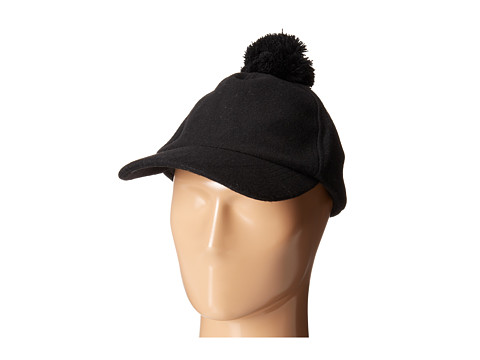 Echo Design - Baseball Cap w/ Pom (Black) Caps