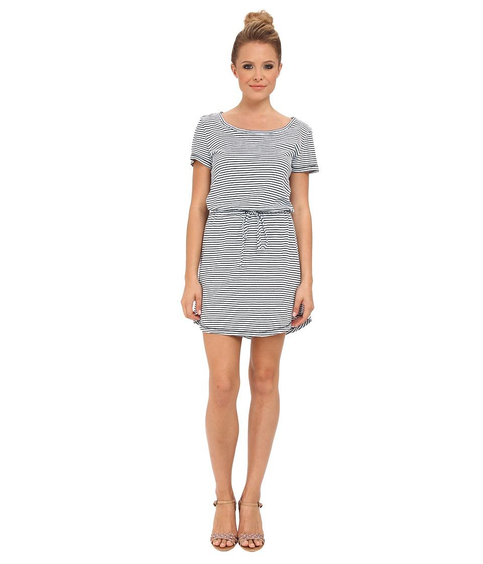 Splendid - Indigo Dye Striped Tee Dress (Dark Stripe) Women's Dress