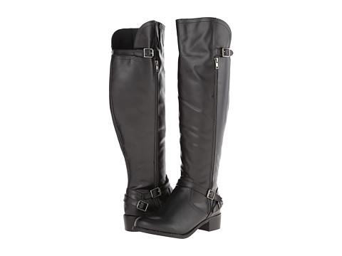 Fitzwell - Princeton Wide Calf (Black) Women's Wide Shaft Boots