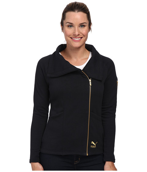 PUMA - Lifestyle Jacket (Dark Grey Heather/Black) Women's Jacket
