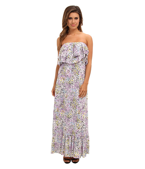 Tbags Los Angeles - Layered Ruffle Maxi Dress (FR3 Print) Women's Dress