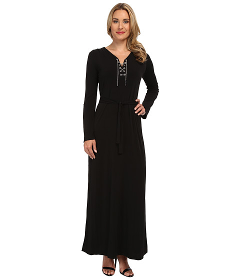 MICHAEL Michael Kors - Maxi Chain Tie Dress (Black) Women's Dress