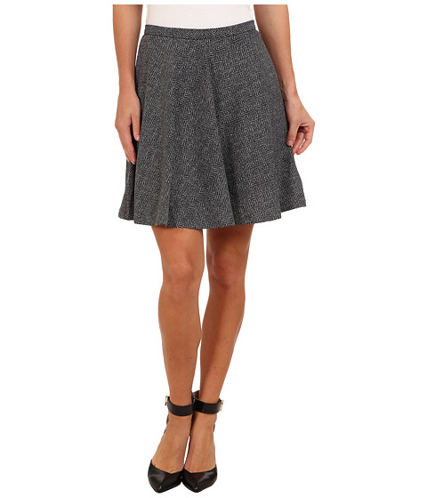 MICHAEL Michael Kors - Herringbone Circle Mini (Black) Women's Skirt