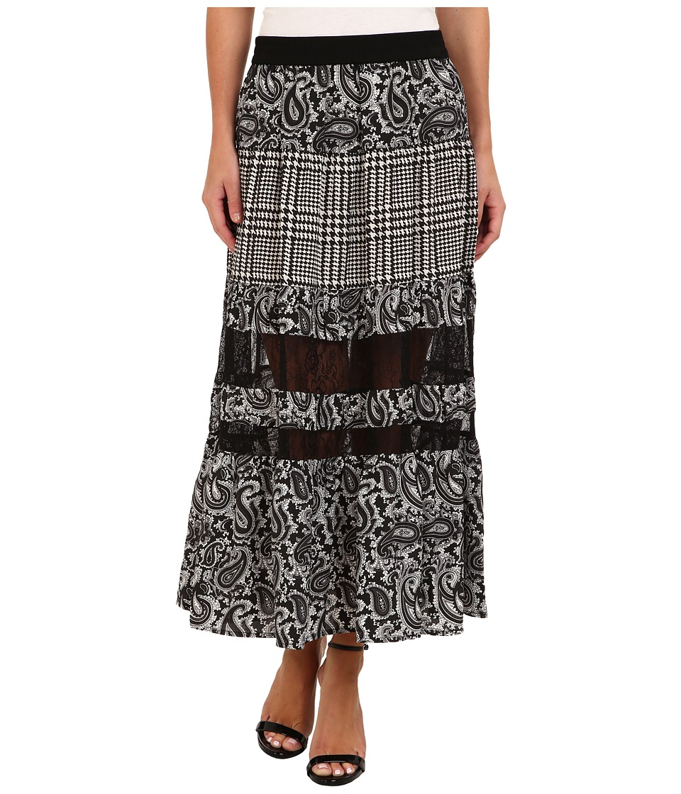 MICHAEL Michael Kors - Lazio PCD Maxi Skirt (Slate Grey) Women's Skirt