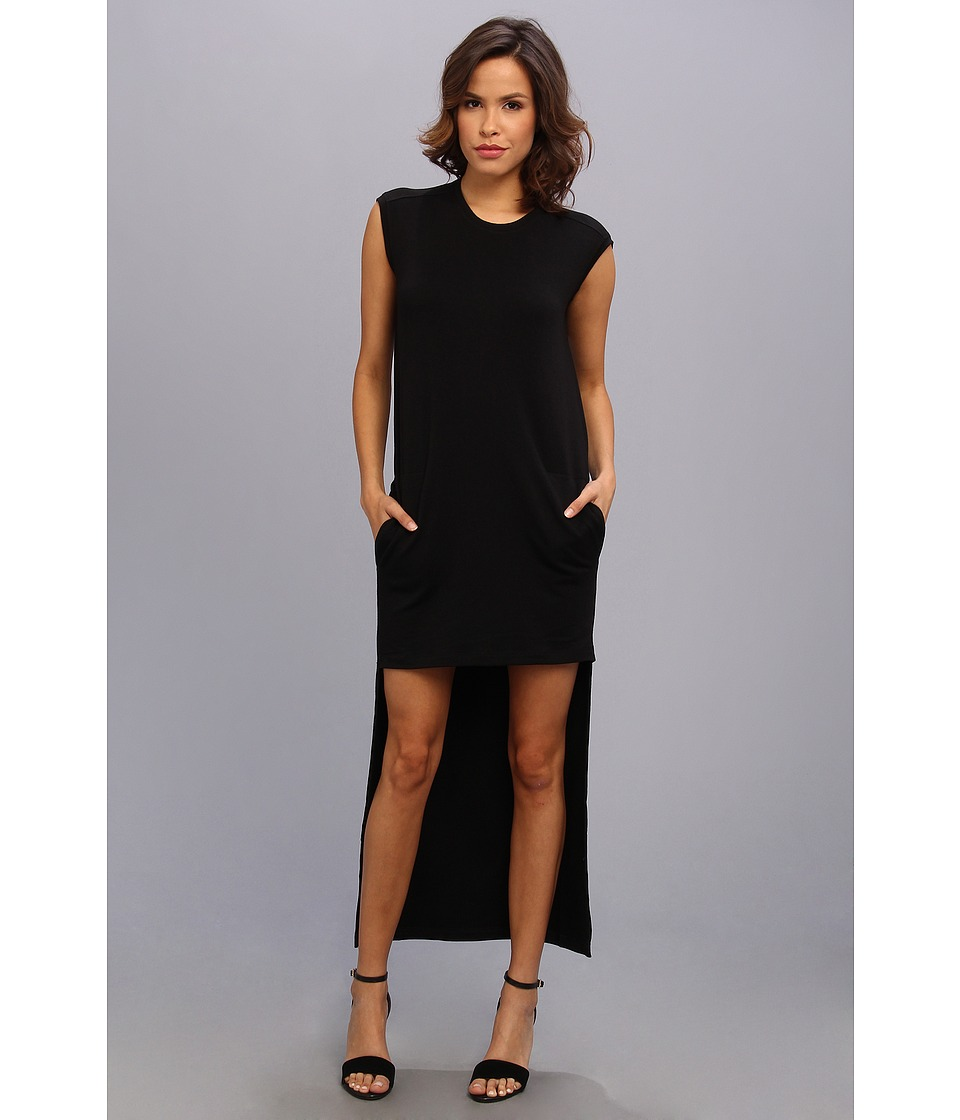 BCBGMAXAZRIA - Laurynn Hi-Low Dress (Black) Women