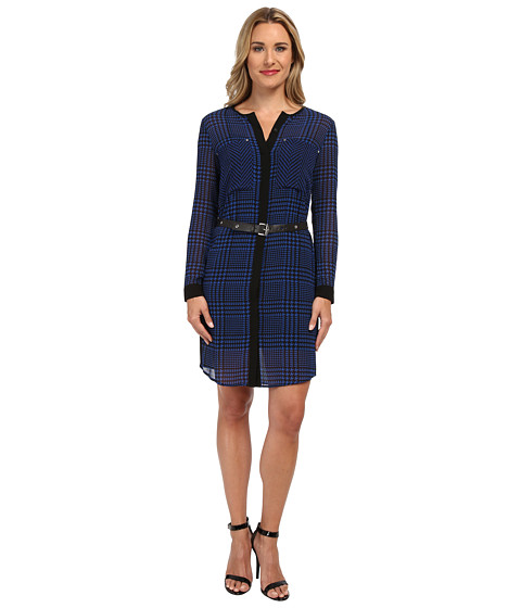MICHAEL Michael Kors - Verona Print Shirt Dress (Amalfi Blue) Women's Dress