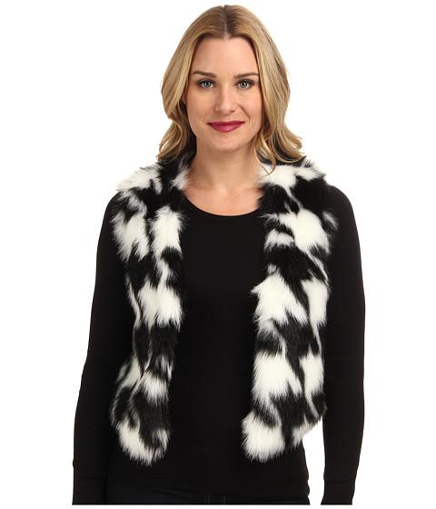 MICHAEL Michael Kors - Cropped Faux Fur Vest (Ecru) Women's Vest