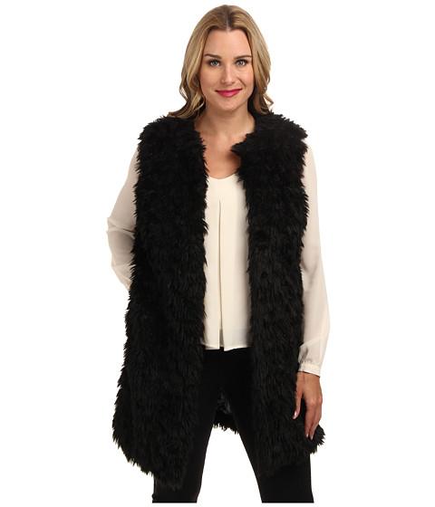 MICHAEL Michael Kors Faux Fur Vest (Black) Women's Vest