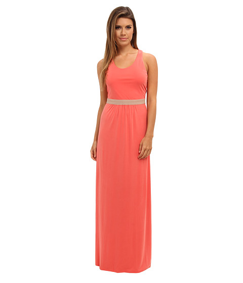 BCBGMAXAZRIA - Adriene Twist Back Long Dress (Vintage Ambrosia) Women