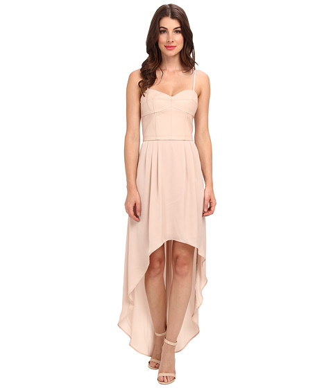 BCBGMAXAZRIA - Leandra Faux Leather Dress (Light Bare Pink) Women's Dress