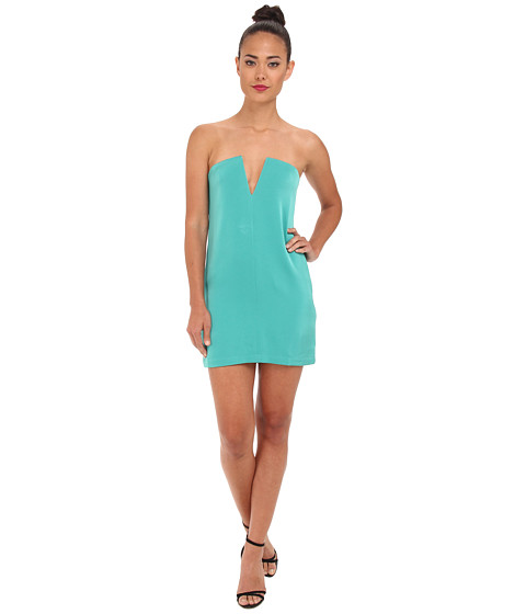 BCBGMAXAZRIA - Nahara Strapless Evening Dress (Dark Sea Green) Women