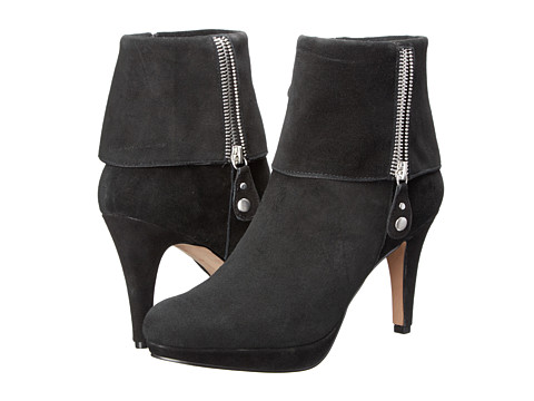 Adrienne Vittadini - Poppers (Black Kidsuede) Women's Dress Boots