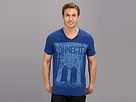 DKNY Jeans S/S Connected V-Neck Tee (Sapphire)