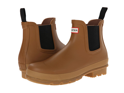Hunter - Original Gum Sole Chelsea (Ochre) Men's Rain Boots