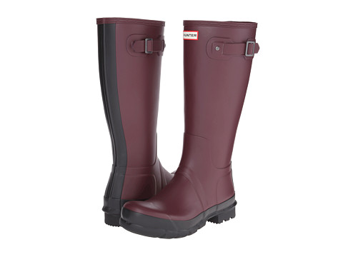 Hunter - Original Two-Tone Tall (Burgundy) Men's Rain Boots