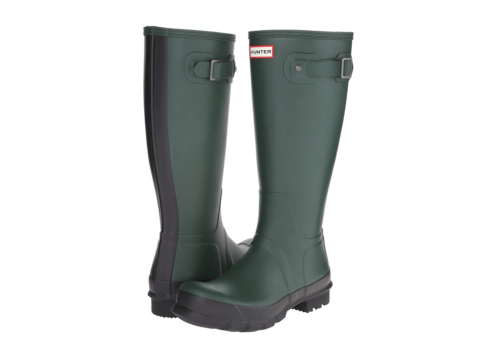Hunter - Original Two-Tone Tall (Forest Green) Men's Rain Boots