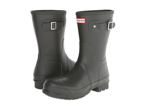 Hunter - Original Short (Dark Olive) Men's Rain Boots
