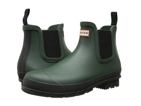 Hunter - Original Chelsea (Forest Green) Men's Rain Boots