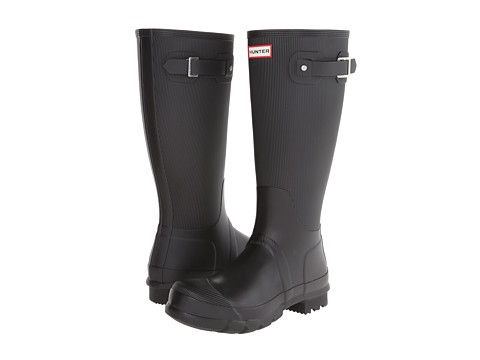 Hunter - Original Ribbed Leg (Black) Men's Rain Boots