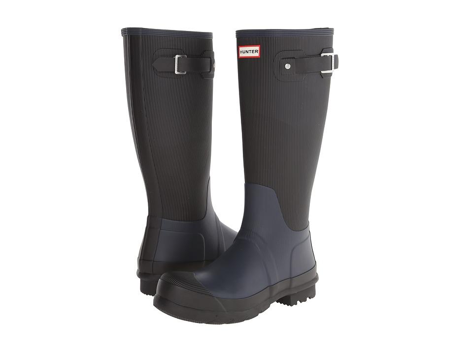 Hunter - Original Ribbed Leg (Navy) Men's Rain Boots