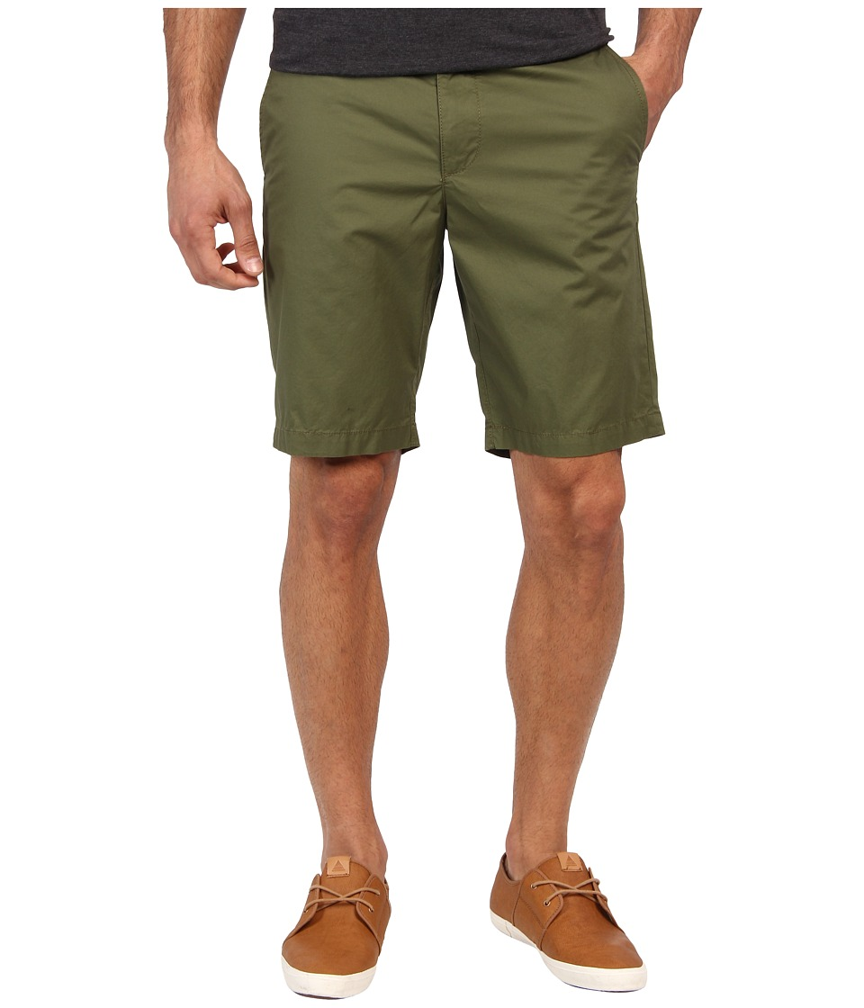 Original Penguin - Basic Flat Front Short (Burnt Olive) Men's Shorts