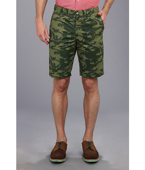 Original Penguin - Camo Printed Short (Rifle Green) Men