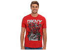 DKNY Jeans S/S Status Crew Neck Tee (Pompeian Red) Men's T Shirt