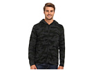 DKNY Jeans L/S Camo Print Full Zip Hooded Sweater (Dark Heather Grey)