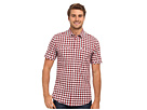 DKNY Jeans S/S Shadow Gingham Welt Pocket Shirt (Pompeian Red)